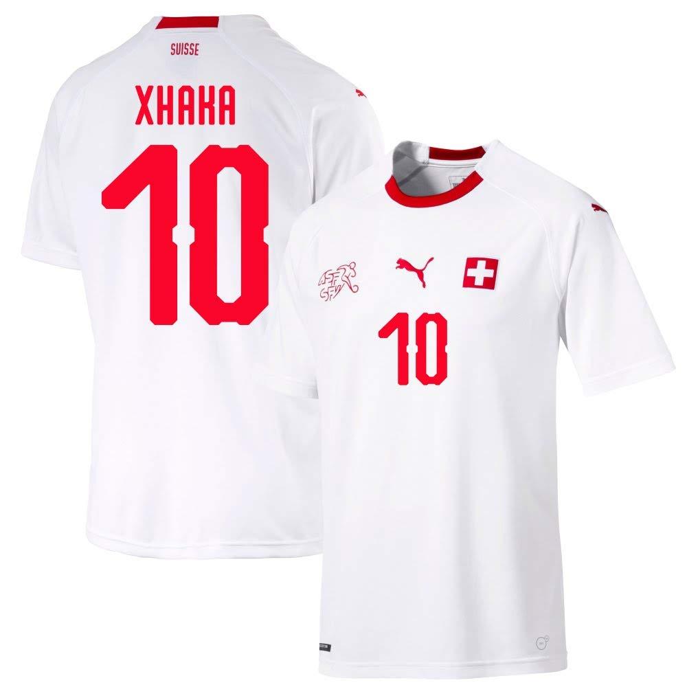 Schweiz Away Trikot 2018 2019 + Xhaka 10 (Fan Style)