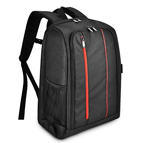 UTEBIT XL DSLR Camera Backpack Waterproof Large Bag Outdoor Pro Camera Case with Rain Cover for 2 Cameras 2 Lens or 1 Camera 4 Lens Rucksack with Laptop or Tablet Computer Storage Cabinet