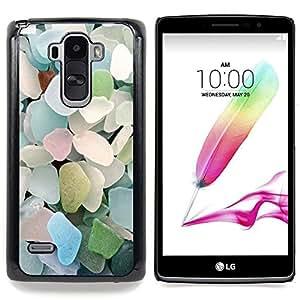 GIFT CHOICE / Teléfono Estuche protector Duro Cáscara Funda Cubierta Caso / Hard Case for LG G4 Stylus H540 // Beach Summer Glass Blue Pastel //