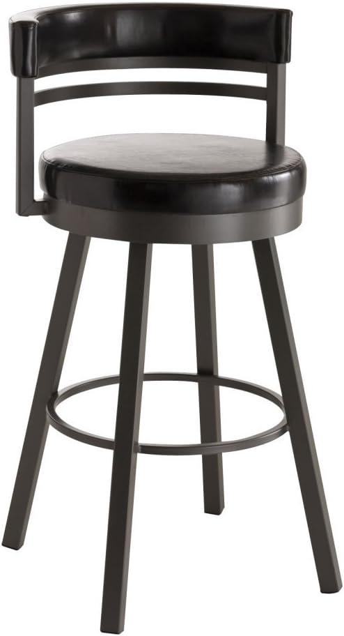 Amisco Industries Lolo Metal Barstool 30-Inch Titanium