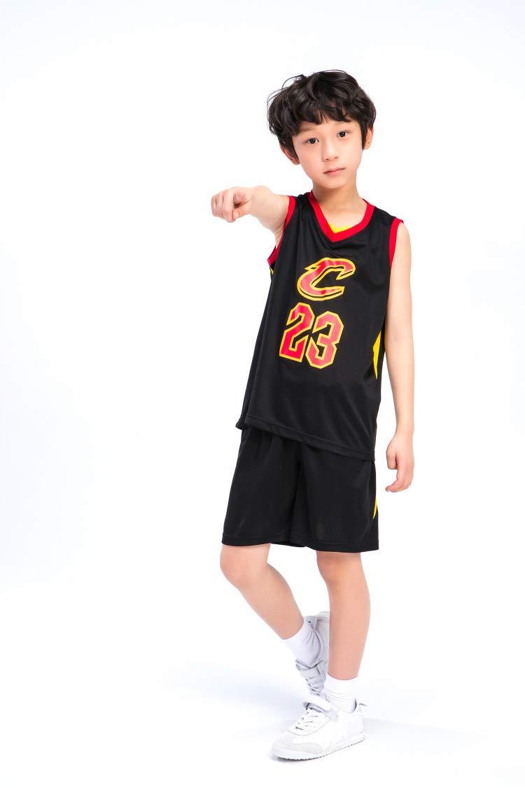 Hanbao Niño NBA Cavs #23 James Ropa de Baloncesto: Amazon.es ...