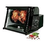 1250 Watts Black Metal 4000 Series Rotisserie Countertop Oven