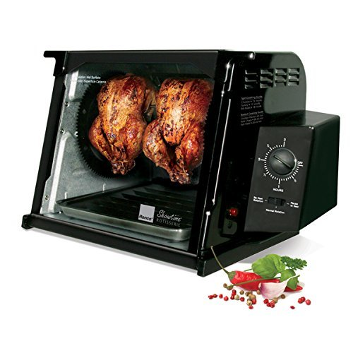 1250 Watts Black Metal 4000 Series Rotisserie Countertop Oven by Ronco