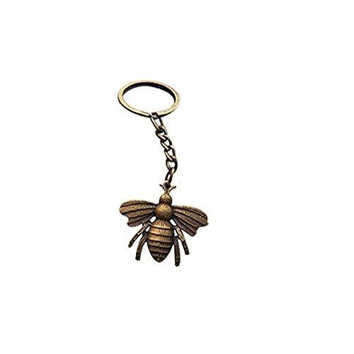 Abeja llavero, Honeybee llavero, llavero con colgante de ...