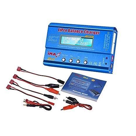 Descargador de cargador de balance de batería iMAX B6 80W 6A Lipo NiMh para RC Drone Blue