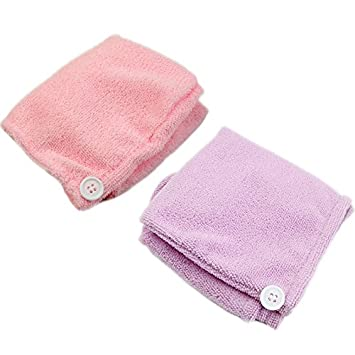Misciu Microfiber Magic Hair Dry Drying Turban Wrap Towel/Hat/Cap Quick Dry Dryer Bath (Blue)