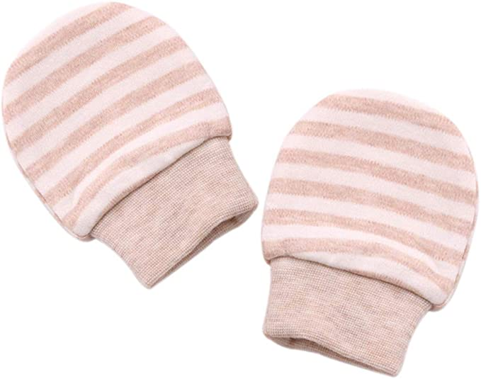 LAAT 1 Paire de Gant Pour Nouveau-n/é Mignon Gants B/éb/é Moufles de Protection en Coton Anti Scratch Cadeau de Naissance pour Nouveau-n/é