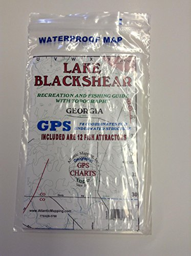 Atlantic Mapping - Lake Blackshear - Recreation and Fishing Guide Map w/Topography by Atlantic Mapping