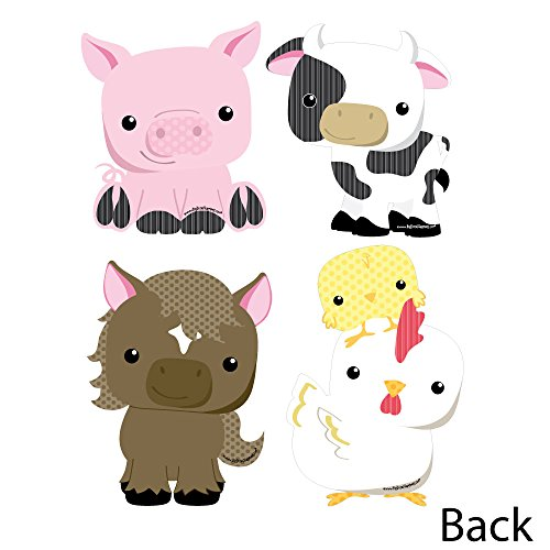 Farm Animals - Cow, Horse, Pig and Chicken Decorations DIY Baby Shower or Birthday Party Essentials - Set of 20 by Big Dot of Happiness (Image #2)
