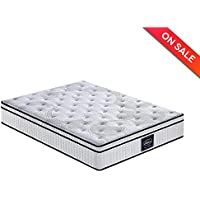 LCH 10.2 Inch Queen Latex Hybrid Mattress - Independently Encased Coil Mattress With Memory Foam, Multi Functional, 120 Days Free Return, 20 Years Warranty