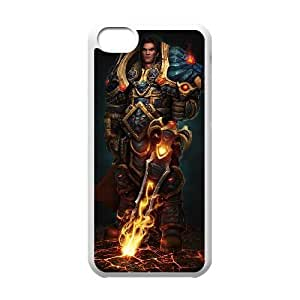 iphone5c phone case White World of Warcraft WOW Varian Wrynn KKD7818389