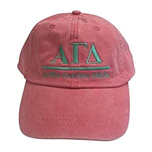 Alpha Gamma Delta (B) Coral gorro gorra de béisbol con espuma de mar rosca