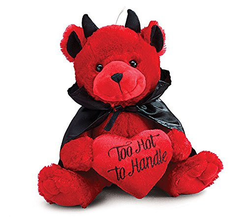 Burton and Burton Too Hot to Handle Valentine Devil Bear, Red, (Valentines Day Stuffed Animals)