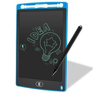 Tavolo da disegno per bambini Tavoletta da scrittura digitale da 8,5 pollici LCD Scrittura da tavoletta digitale portatile per bambini in auto Cavalletto in legno a doppia faccia ( Color : Blue )