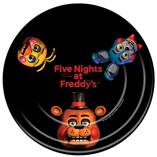 [Five Nights at Freddy's Dinner Plates (8)] (Foxy Five Nights At Freddys Costume)