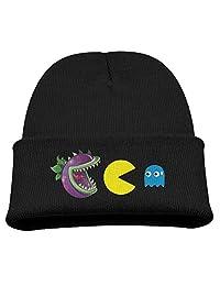 Plants Vs Zombies Vs Pac Man Warm Winter Hat Knit Beanie Skull Cap Cuff Beanie Hat Winter Hats Children