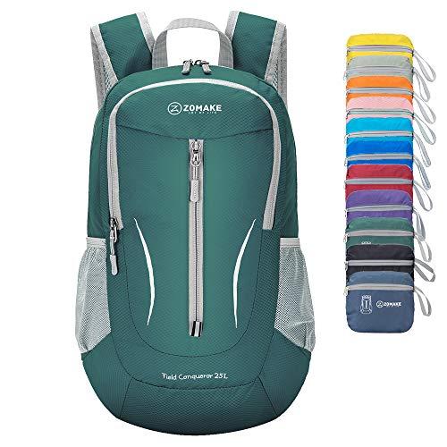 ZOMAKE Small Hiking Backpack, 25L Lightweight Travel Backpack Packable Backpack Daypack for Women Men (Outlander Large Packable Handy Lightweight Travel Backpack Daypack)
