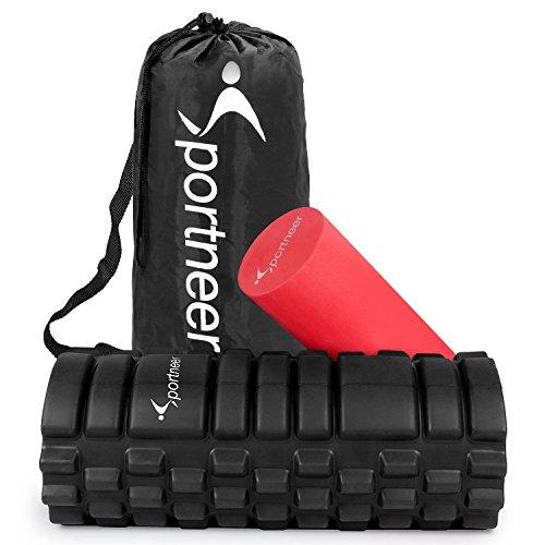 Buy Cheap Foam Roller, Sportneer 2-in-1 Foam Rollers with 2 Screw-in Cover Lids, Trigger Point Rolle...