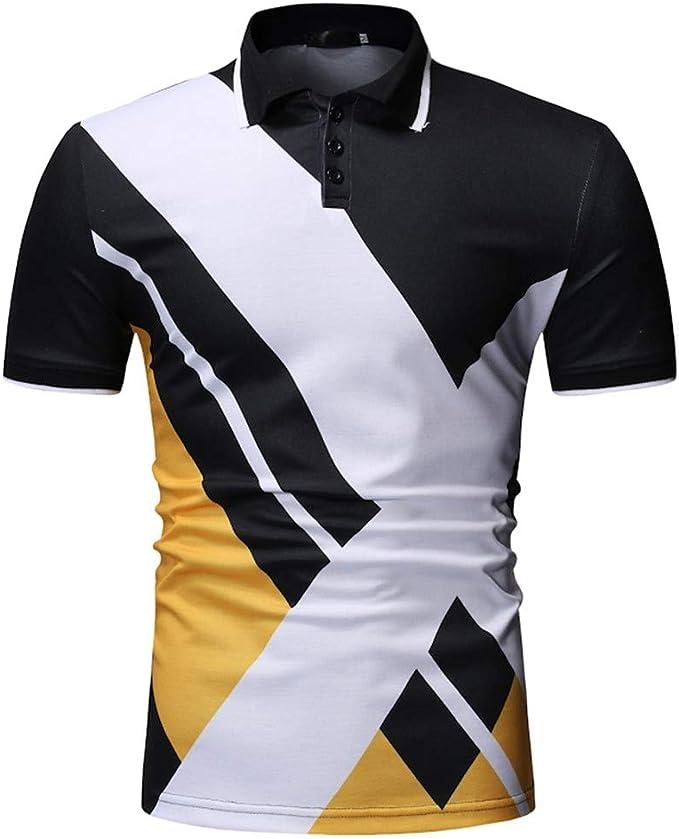 Dearprias Polo de Golf Moderno para Hombre - Negro - XX-Large ...