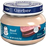 Gerber Purees 2nd Foods Beef & Gravy, 2.5 Ounce