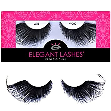 "1a06238fe49 Elegant Lashes W999""Raven"" Premium Thick Long Black Jumbo False  Eyelashes for Halloween,"