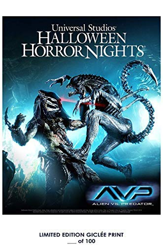 Lost Posters Rare Poster Universal Studios Halloween Horror Nights: Alien VS. Predator Limited 2015 Reprint #'d/100!! 12x18 ()