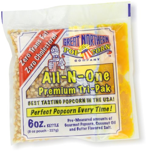 4105 Great Northern Popcorn Premium 6 Ounce Popcorn Portion Packs, CASE OF 24