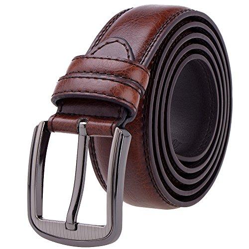 Vbiger Leather Reversible Dress Jeans