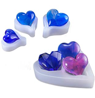 Love Heart Mold Silicone Epoxy Resin DIY Jewelry Making Tools Mould HandcYJUDX5