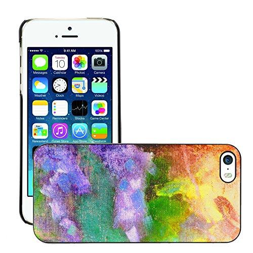Premio Sottile Slim Cassa Custodia Case Cover Shell // V00001874 abstraite polychrome // Apple iPhone 5 5S 5G