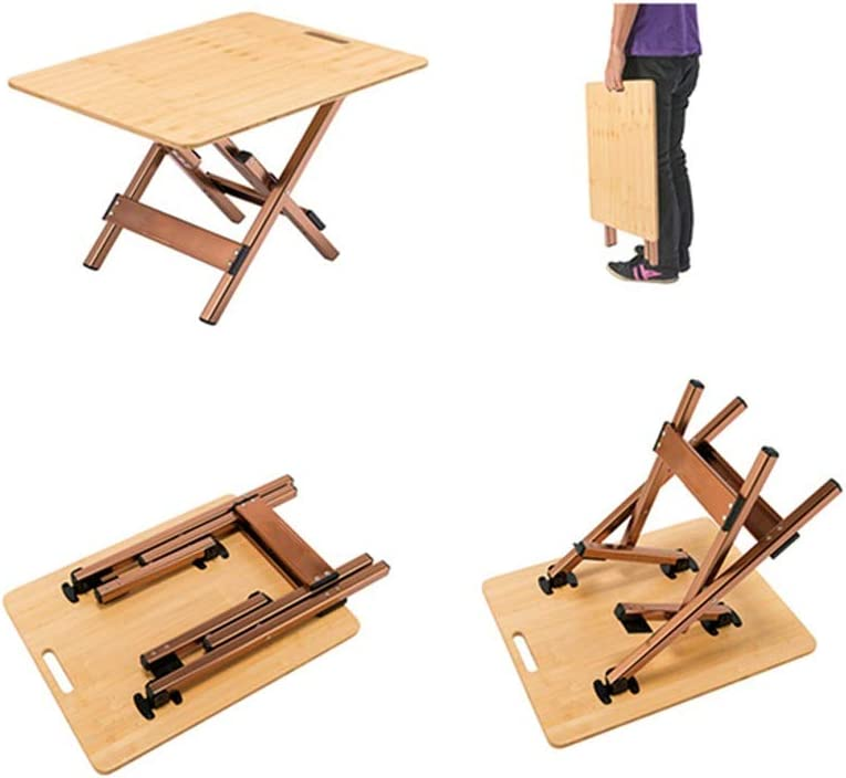 BETTY Tables Outdoor Folding Picnic Table Portable Aluminum Folding Table Bamboo Solid Wood Table Camping Barbecue Hiking Garden Indoor