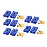 uxcell® 10 Sets EC3 3.5mm Female Male Gold Plated Banana Connector For RC Battery