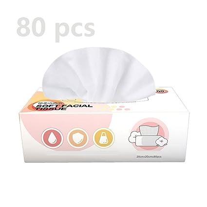 Toalla de cara de algodón puro orgánico desechable Espesar Toallitas de algodón libres de pelusa Tejido