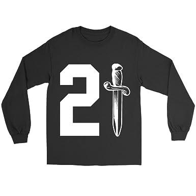 70381552 21 Savage Daggar ISSA Knife Long Sleeve Shirt | Amazon.com