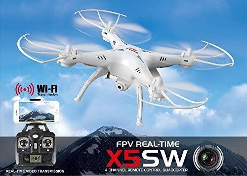 Syma X5SW 4CH 2.4G 6-Axis Gyro Headless Soporte móvil, Wifi FPV HD ...
