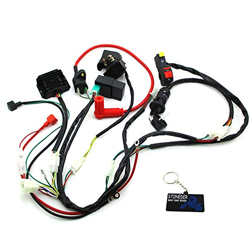 STONEDER Wiring Loom Harness Key Switch Ignition CDI Kit For Zongshen 190cc 2 Valve Oil Cooled Electric Start Engine Pit Dirt Bikes: