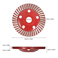 "Walmeck 5"" Diamond Segment Grinding Wheel Disc Bowl Shape Grinder Cup 22mm Inner Hole for Concrete Building Industry"