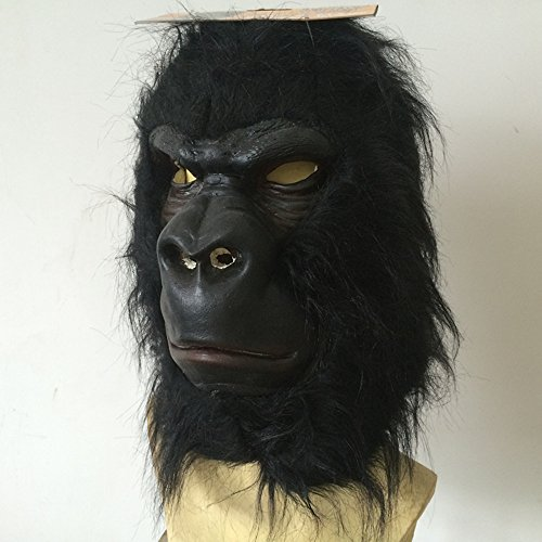 100pcs Black Chimp Latex Mask For Cosplay,Mask Festival,Halloween,Dance Party Costume By MaskShow by Maskshow