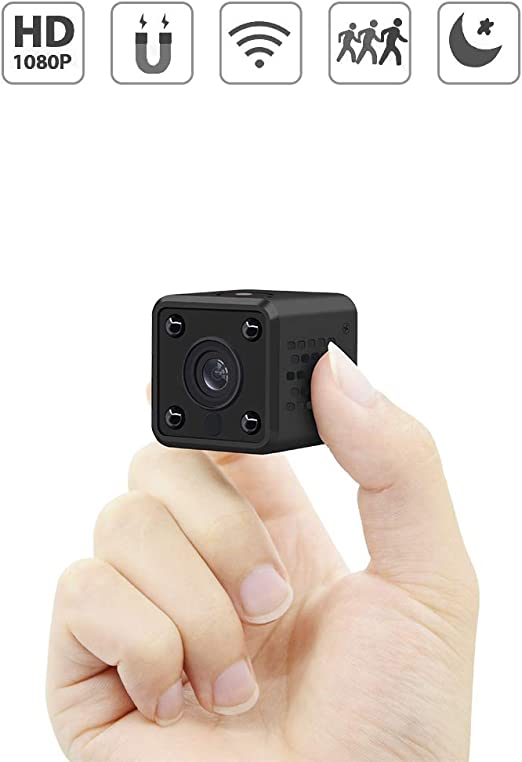 Micro Nanny Cam with Motion Detection and Infrared Night Vision Mini Camera Compact Security Camera for Indoor and Outdoor Full HD 1080P Portable Small Security Camera