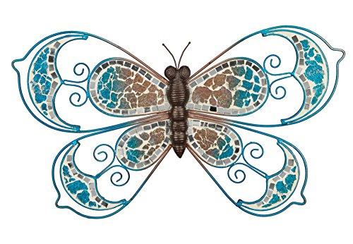 """Regal Art Gift 20193 Mosaic Butterfly Wall Decor, 6"""", Blue"""