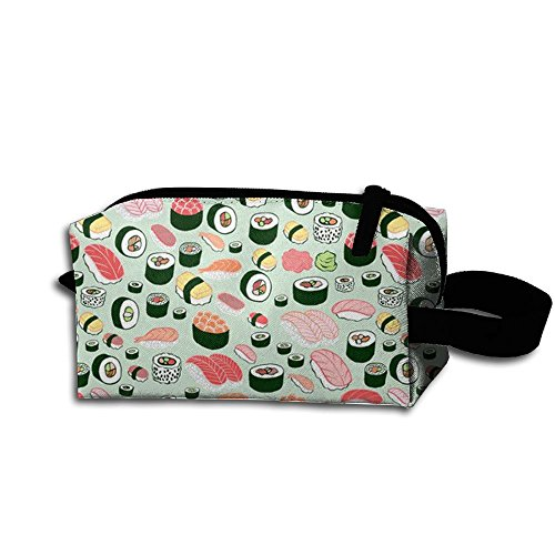 Create Magic - Sushi Student Pen Pencil Case Waterproof Multi-Purpose Storage Tote Tools Pouches Cosmetic Bags with Zipper and Hanging Loop ()