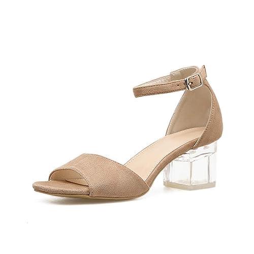 Cuadrados Sandalias Mujeres Verano De Para Zapatos Tacones VqSzUMp