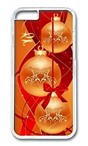 MOKSHOP Adorable Chirstmas Balls Abstract Hard Case Protective Shell Cell Phone Cover For Apple Iphone 6 (4.7 Inch) - PC Transparent