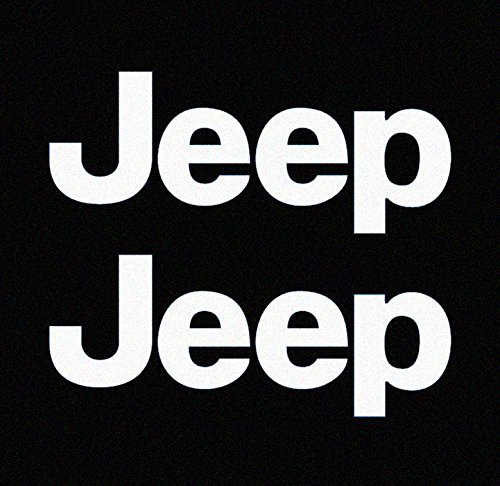 - Jeep TJ Side Panel Logo Decal - Set of Two (White - 010/Oracal 651)
