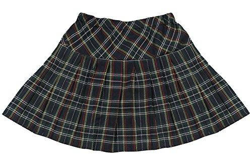 Womens Scotland School Uniform Elastic Waist Cosplay Mini Plaid Skirts GC41B-XL