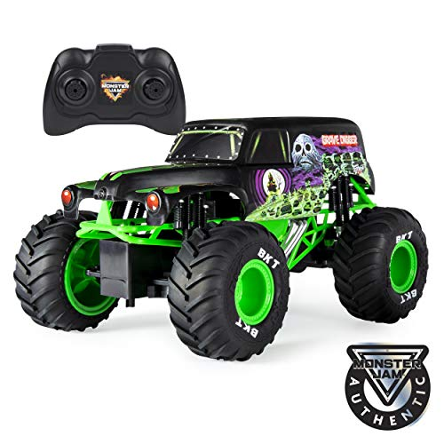 Monster Jam Official Grave Digger Remoter Control Monster Truck, 1: 15 Scale, 2.4Ghz (Best Remote Control Toy For 4 Year Old)