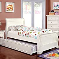 247SHOPATHOME Idf-F7944WH-TR Childrens-Bed-Frames, Full, White