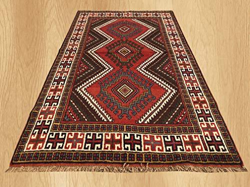 New Oriental Hand Knotted Kurdish Kazak Geometric Wool Area Rug 6'5