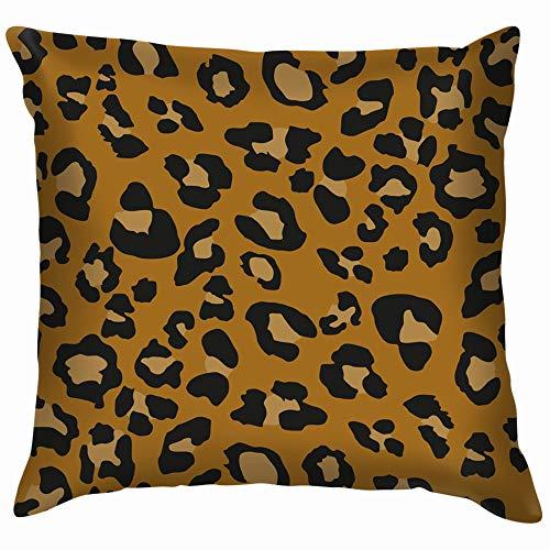 (Leopard Design Throw Pillows Covers Accent Home Sofa Cushion Cover Pillowcase Gift Decorative 12X12 Inch)