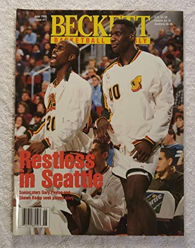 Gary Payton & Shawn Kemp - Seattle SuperSonics - Beckett Basketball Monthly Magazine - #71 - June 1996 - Back Cover: Kevin Garnett (Minnesota Timberwolves)